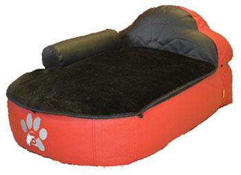 B-112876+B-112878-Hundefauteuil-rot-schwarz